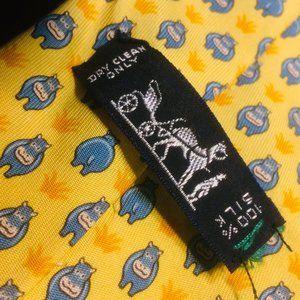 Hermès Hippopotamus Hippo Silk Tie - AS IS